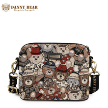 DANNY BEAR 2017 Small Ladies Messenger Bag High Quality Women Crossbody Bags Vintage Casual Cute Female Shoulder Bag Daily Use(China)