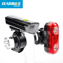 Leadbike 2016 Waterproof LED Bicycle Light Set Bike Front Head Light Cycling Flashlight + Rear Safety Flashlight Taillight