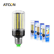 1Pcs Real Full Watt 3W 5W 7W 8W 12W 15W E27 E14 LED Corn Bulb 85V-265V SMD 5736 LED lamp spot  light 28/40/72/108/132/156 LEDs
