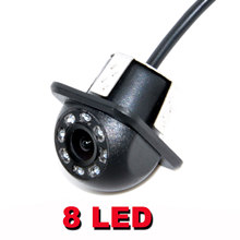 HD CCD 8 LED Car Rearview backup Camera 170 Wide Angle  Car Reversing Backup For Parking Monitor Camera Night Vision