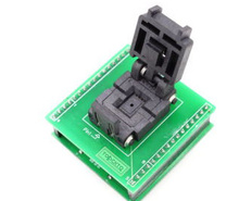 Free Shipping QFN8 MLP8   WSON8 IC Test Socket Programming Adapter 5X6 mm 5X6MM 1.27mm Pitch