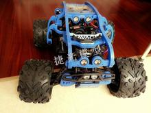 BLACK/BLUE BODY ROLL CAGE WITH FRONT/RAIL/ROOF LED LIGHTS LAMP FOR HPI Savage HP  Flux F XL 4.6  5.9  ROLL CAGE TRUCK
