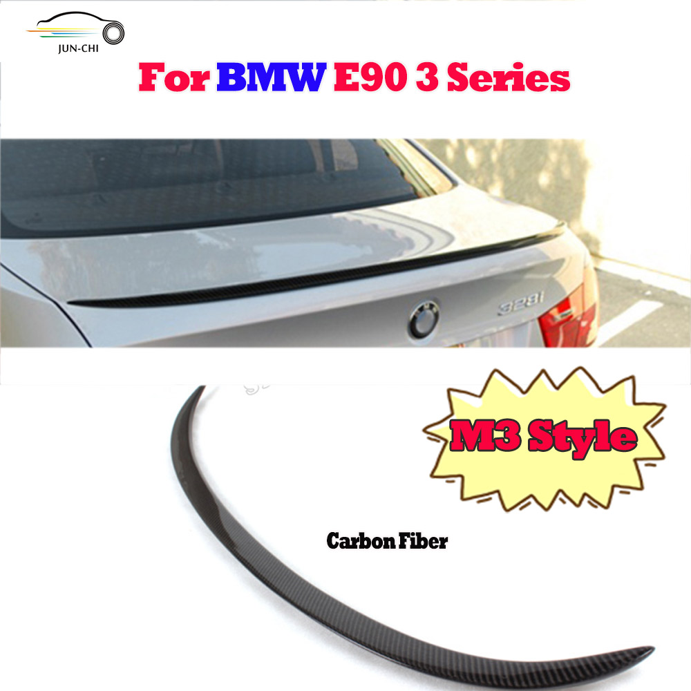 M3 style E90 Carbon fiber rear trunk spoiler Wing for BMW E90 3 series 318i 320i 325i 328i 330i 2005 2006 2007 2008 Car Styling<br><br>Aliexpress