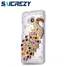 new arrival 2017 luxury rhinestone crystal mobile phone Case protective case shell For htc one m7 801e 802w/T6/200/700 7060/601(China)