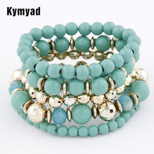 Kymyad Bracelet Femme Bohemian Beads Bracelets & Bangles Multi layer One Direction Bracelets Sets For Women Bijoux Pulsera(China)