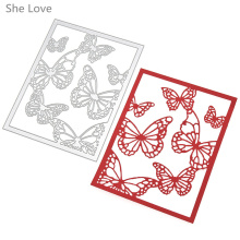 She Love Flying Butterfly Metal Embossing Cutting Dies Stencils Scrapbooking Photo Album DIY Decorative Craft