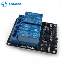 Free shipping 2 channel relay module relay expansion board arduino 5V low level triggered 2-way relay module