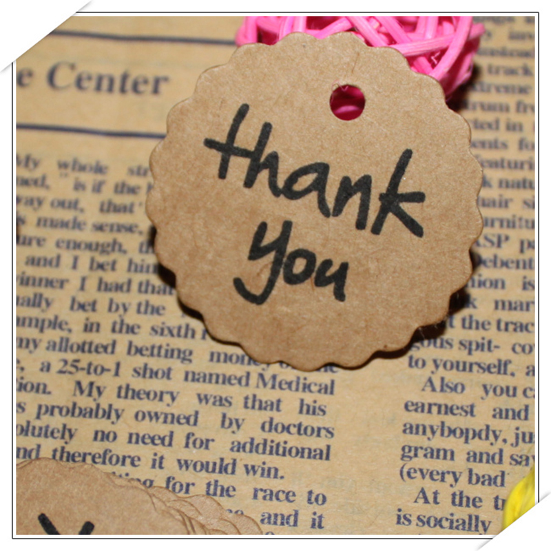 Paper Thank You Tag 4cm [ 100 Piece Lot ] 2