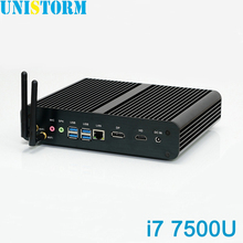 UNISTORM Intel Core i7 7500U 7th Gen Kaby Lake Mini PC Windows 10 Fanless Computer 4K HD Graphics 620 300M Wifi HDMI TV Box