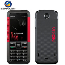 Unlocked 5310 Original Nokia 5310 XpressMusic Bluetooth Java MP3 Player Russian Keyboard support cheap cell phone