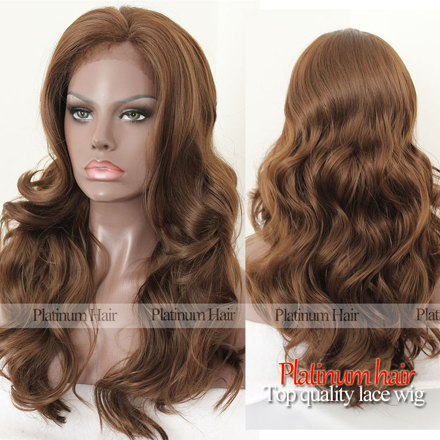 Fashion Braided Synthetic Lace Front Wig For Black Women Heat Resistant Fiber Body Wave Hair #27 Brown Color Synthetic Hair Wigs<br><br>Aliexpress