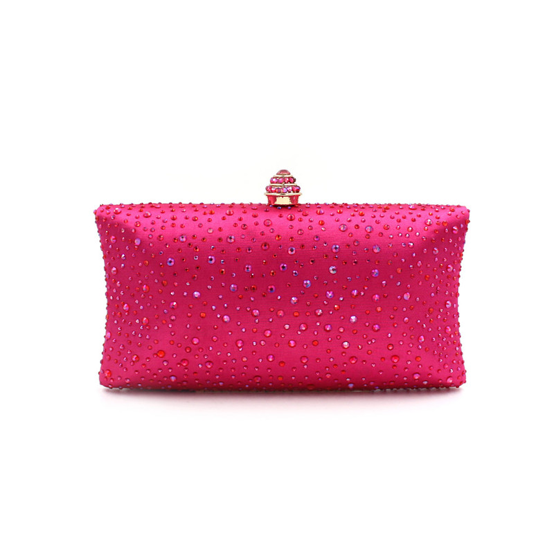 Luxury evening clutch bags handcraft crystal clutch purse women party evening bags pink color handbags<br>