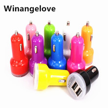 Winangelove 500pcs/lot Best quality Universal 2.1A &1.0A Dual USB Port Car Charger Adapter for iphone 7 6 5 5S For Samsung s7 s6