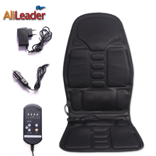 Alileader Car Home Office Full-Body Massage Cushion 5 Motor Vibrate Mattress Back Neck Massage Chair Massage Relaxation Car Seat