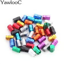 Yawlooc 4 pc/lot Universal Aluminum Car Truck Bike Motorcycle Tyre Tire Valve Core Caps Wheel Valve Stem Cap Dust Cover CT223(China)