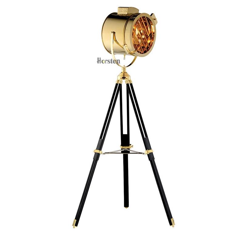 Industrial Bar Nordic American Creative Studio Silver Golden Floor Lights Tripod Searchlight Floor Lamps E27 (13)