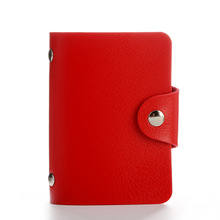 Fashion Women Men Credit Card Holder Bags Pu Leather Name Bank ID Business Organizer Wallet Purse 12card Slots(China)