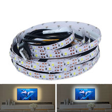 DC5V LED Night Light String USB Port Cable 50CM 1M 2M 3M 4M 5M USB LED strip light lamp SMD 2835 for PC / TV Decoration lamp(China)