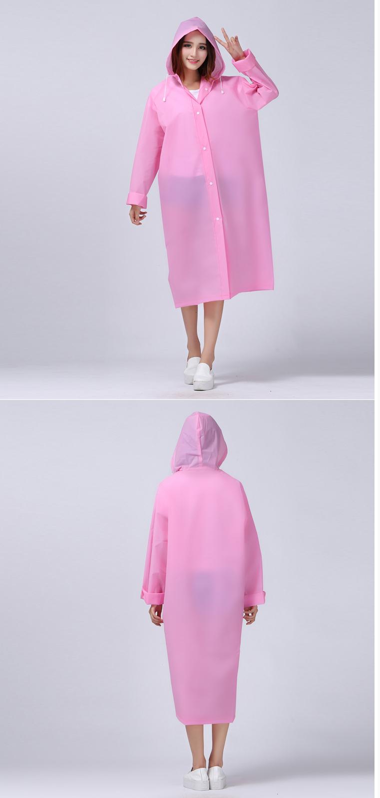 Women Transparent Portable Long Raincoats 14