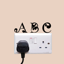 ABC Fashion Personality Livingroom Light Switch Stickers Wall Door Decals A1477