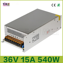 best price free shipping DC36V 15A 540W Universal Regulated Switching Power Supply LED Lighting Transformers for CCTV Led Radio(China)