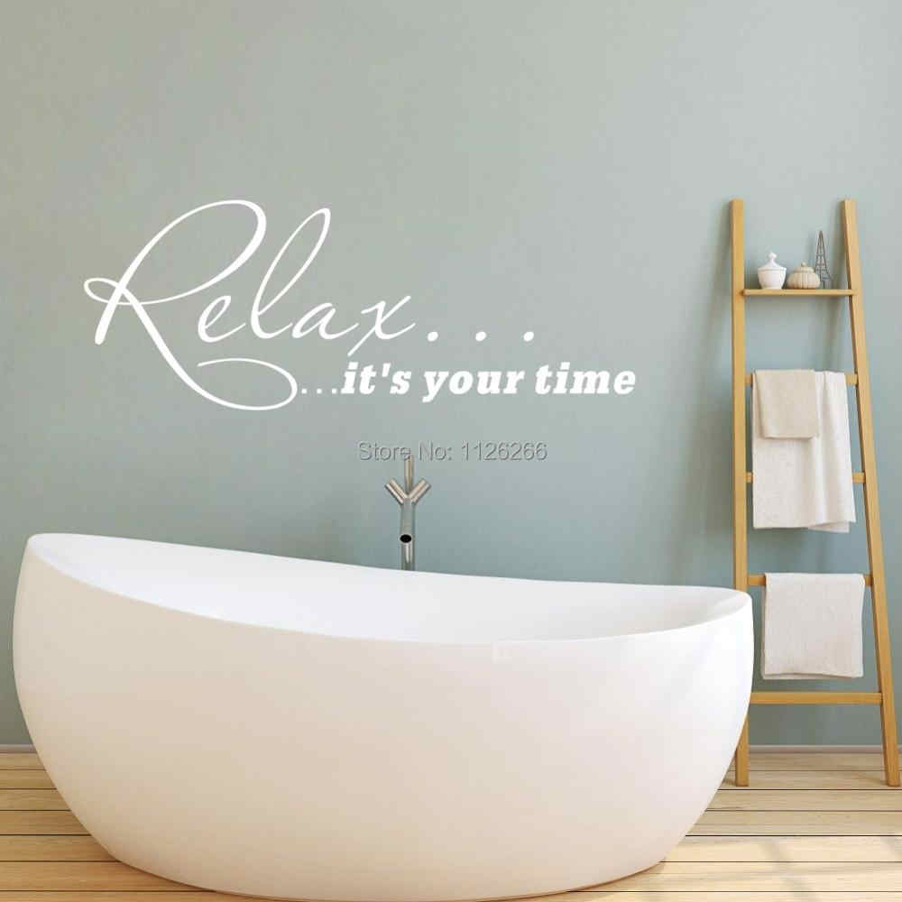 relax it s your time life quote wall decal art vinyl home stickers