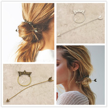 New fashion hairwear vintage gold color star hairpin hair combs hair sticks gift for women girl H363
