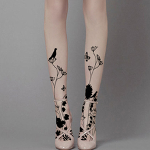 Buy Princess sweet lolita pantyhose Japanese harajuku spring summer hand-painted tattoo printing thin pantyhose LKW87