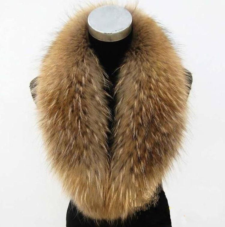 Big Size 100% Natural Real Raccoon Fur Collar Scarf For Women Winter Coat Cap Warm Genuine Fur Collar Scarves 65cm 75cm 80cmОдежда и ак�е��уары<br><br><br>Aliexpress