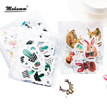 40pcs/lot Cute Animals Plants Mini Paper Sticker Set Decoration Diy Ablum Diary Scrapbooking Stationery Stickers School Supply(China)
