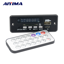 Aiyima 5V Bluetooth MP3 audio decoder board 3W*2 amplifier Radio AUX charging hands-free calling excellent sounds