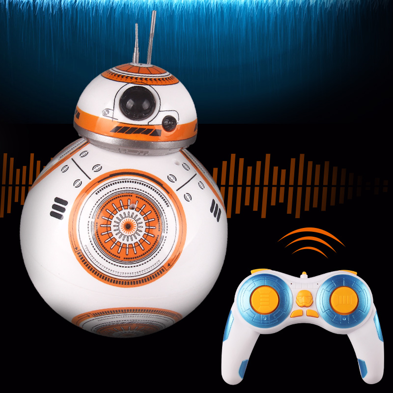 Free Shipping BB 8 Star Wars RC BB-8 Droid Robot 2.4G Remote Control BB8 Action Figure Robot Intelligent Ball Toys For Children(China (Mainland))
