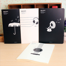 Music staff notes book Musical notes book note book notepad school supplies cute Novelty stationery