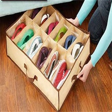 1pcs  Fabric Dustproof Shoes Organizer Case Storage Bag Box Holder For 12 Pairs Shoes JbRY