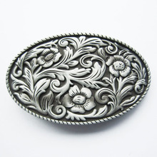 Retail Distribute Original Western Cowgirl Flower Vintage Belt Buckle BUCKLE-WT097AS Free Shipping(China)