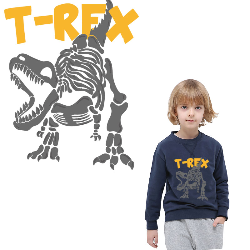 cute t rex dinosaur iron on t shirt transfer