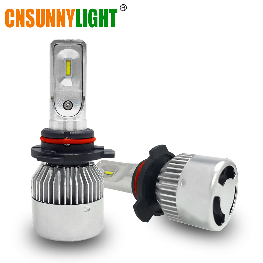 CNSUNNYLIGHT Car Headlights LED 9012 HIR2 9000Lm Replacement Bulbs for Buick/Toyota/Fiat/Ford Auto Projector Lens Hi/Lo Lighting<br>