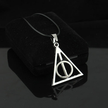 Buy HOMOD 2017 New Harry Potter Pendant Necklace Silver Color Can Rotate Triangle Rope Chain Necklace Woman Gift Hight for $1.59 in AliExpress store