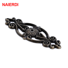 3PCS NAIERDI Zinc Alloy Bronze Handles Cabinet Door Drawer Antique Knobs Cupboard Wood Jewerly Box Pull For Furniture Hardware