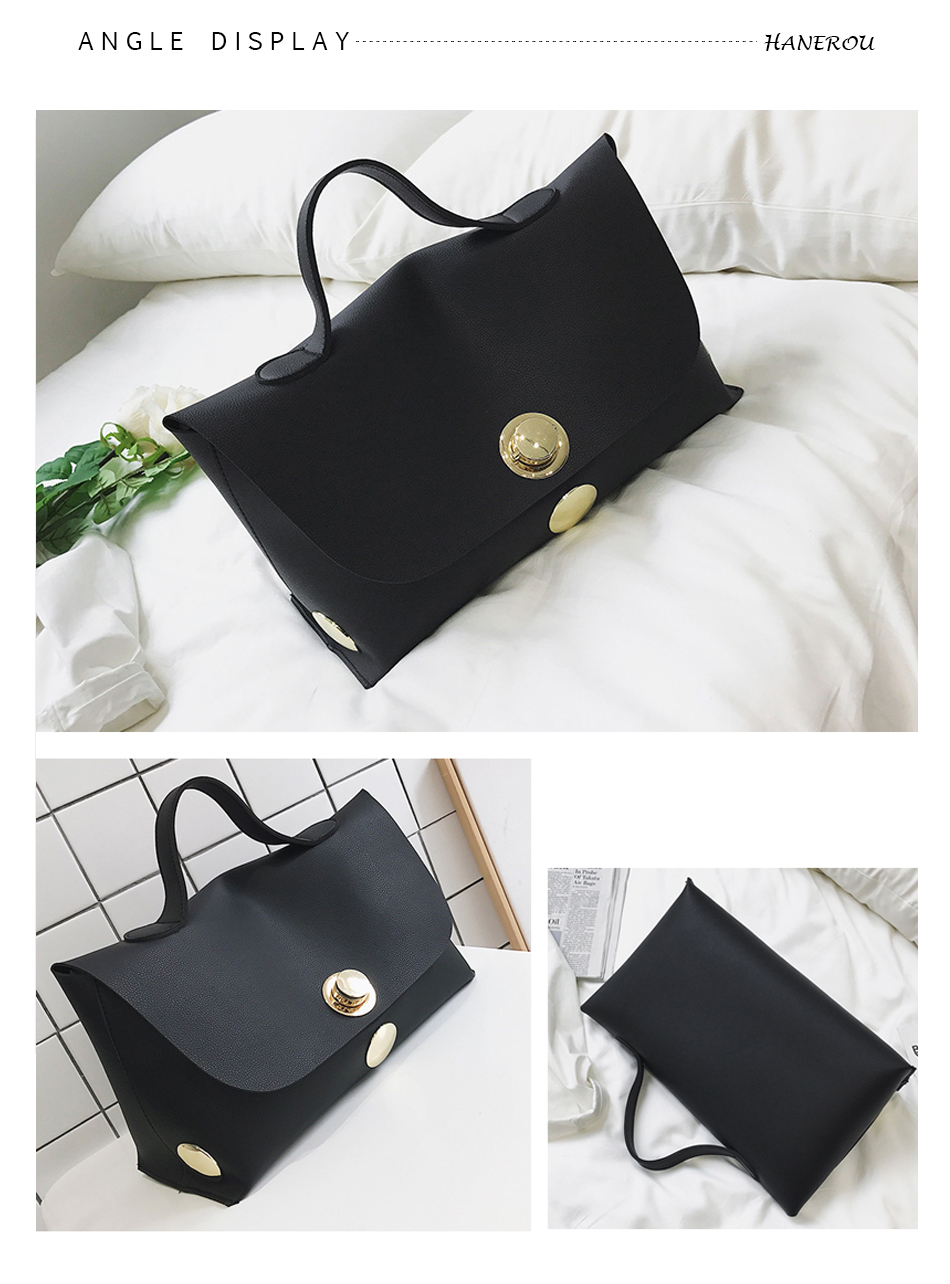 Fashion Luxury Lock Women Handbags High Quality Pu Leather Bags Handbags Women Famous Brands Big Capacity Ladies Hand Bags Sac 8
