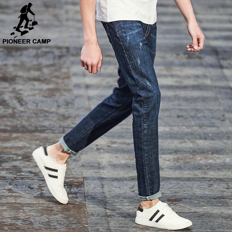 Pioneer Camp New Spring Jeans men brand clothing fashion straight denim trousers casual slim fit denim pants for men ANZ707002Îäåæäà è àêñåññóàðû<br><br>
