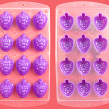 Simple Fashion Ice Cube Molds Silicone Apple/Grape/Orange/Lip Shape Frozen Popsicle DIY Making Ices Mould Cooking Tools