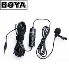 BOYA BY-M1 Omnidirectional Camera Lavalier Condenser Microphone Mic for Canon Nikon Sony DSLR Cameras and IOS iPhone Smartphones(China)