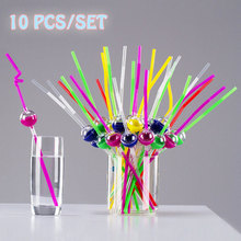 10pcs Disposable Pipette Haha Lovely Shape Creative Drink Taste Different Artifact Drinking Straw For Kids Birthday Party XMAS