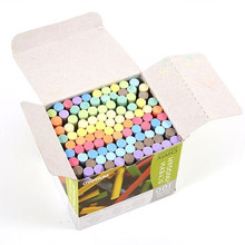 Multi-color 100pcs/pack Chalk white Non Dust Clean Teaching Hold For Teacher Children Home Education On Board chalk holders(China)