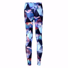 New 3302 Sexy Girl Slim Ninth Pants Cartoon Cinderella Coach princess Printed Stretch Workout Fitness Women Leggings Plus Size