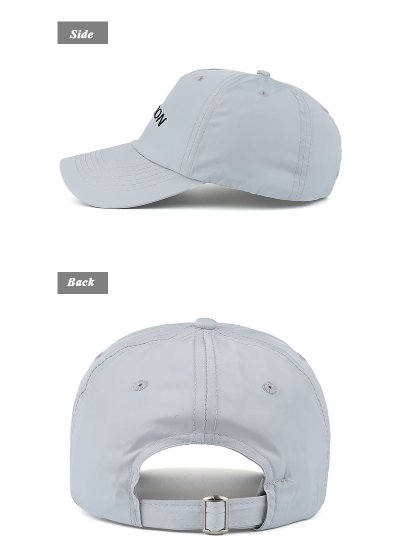 "Embroidered ""Vacation"" Baseball Cap - Side and Rear Views"