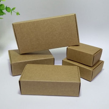 50pcs/lot Kraft Paper Boxes 13*9.5*3cm DIY Craft Gift Jewelry Handmade Soap Storage Box Candy Package Aircraft Box