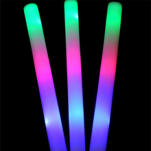Multi Color Glow Stick 3 Modes LED Light Foam Stick ,Colors Changing Glow Foam Stick for Most Festival 100pcs/lot