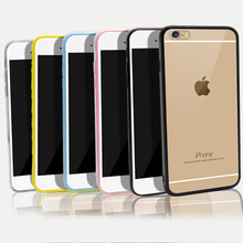 Transparent Crystal Clear Ultra Thin Slim With Dust Plug TPU Acrylic Cover Case For iPhone SE 6 6S Plus 4.7 5.5 inch 200pcs/lot